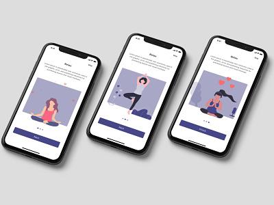 Omtare App - Onboarding onboarding uiux ui meditation app meditation