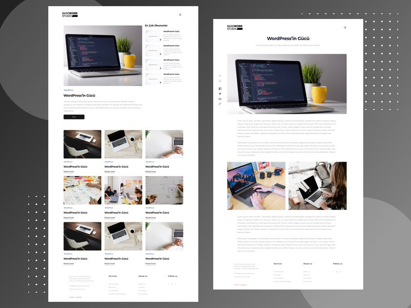 BaseWork Studio Blog Design