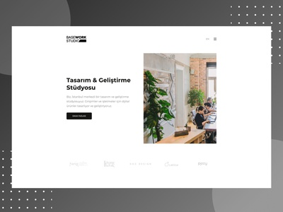 BaseWork Studio New Design web website design agency website agency development studio uiux ui studio website homepage studio