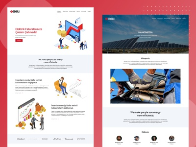 Senerji - Corporate Website Design illustration uiux ux mobile website design ui