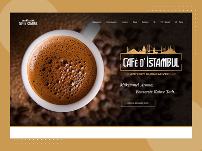 Café d'Istambul - Coffee Shopping coffee e-commerce minimal ux shopping wocommerce uiux website ui design ui