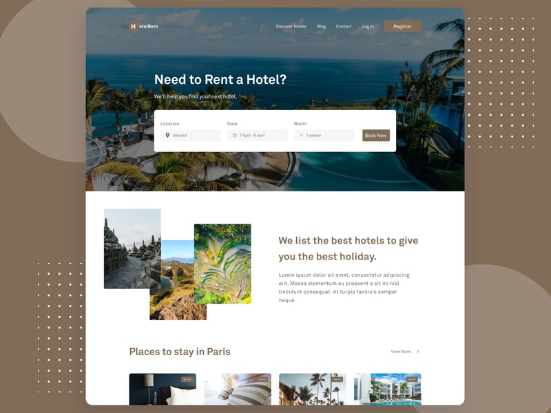 Hotel Rent - Website Design