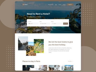 Hotel Rent - Website Design minimal rent website hotel rent hotel uxdesign webdesign website ui design uiux ui