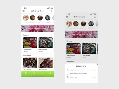 Mersal Flower Delivery App mobile app marketplace delivery delivery app mobile ux uiux design ui