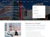 Hospital Web Site UI Design