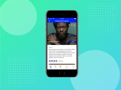 Festival App - Concert Detail Screen music app festival app concert detail daily ux mobile app mobile ui design