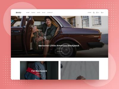 Bagu E-Commerce Website Homepage