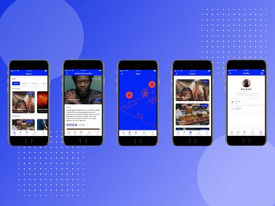 Equinox Festival App concert app festival app event app ux mobile app mobile design ui