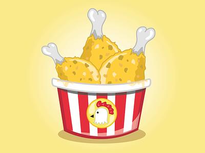Fast Food Festival - Chicken Bucket fast food festival chicken bucket concept art unhealthy illustration