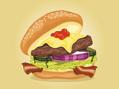 Fast Food Festival Burger fast food festival burger concept art unhealthy illustration