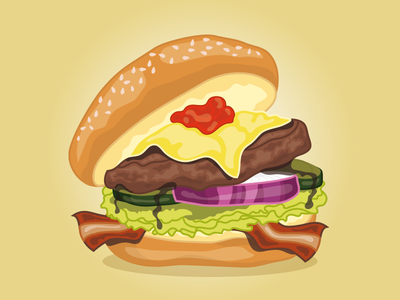Fast Food Festival Burger fast food festival burger concept art unhealthy illustration