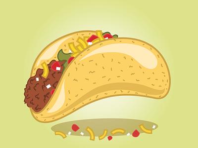 Fast Food Festival Taco fast food festival taco concept art unhealthy illustration