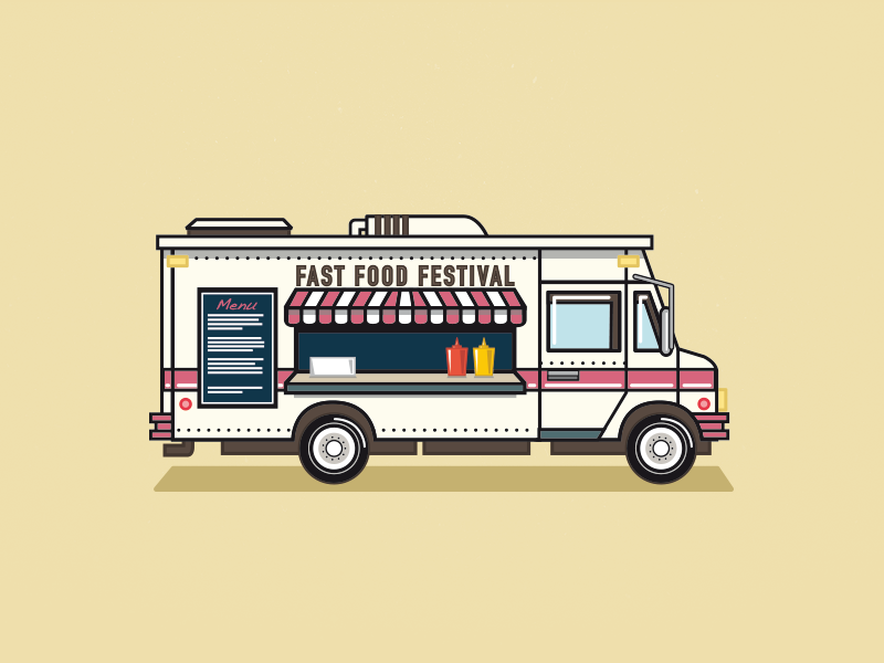 Fast food festival foodtruck by claud nani dribbble for Food truck design app