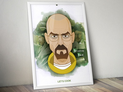 Breaking Bad breaking bad walter white lets cook illustration