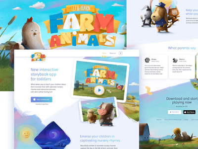 Let's Learn: Farm Animals - iOS app for toddlers