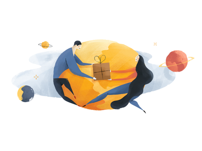 Avast Secure Browser - Amazon Doodle doodle giving love space delivery amazon gift illustration