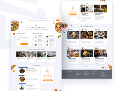Don Appetit - Website Redesign 3 responsive gastronomy food landing page redesign website