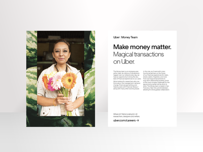 Uber Careers careers photography design uber flyers postcards print