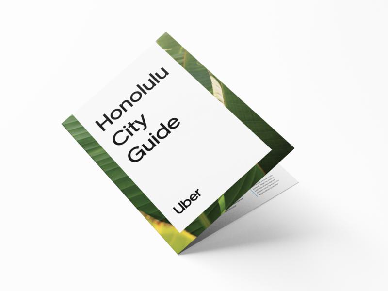 Honolulu City Guide tourism map hawaii honolulu brochure flyer city guide uber design print