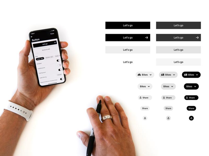 Base UI Components buttons ui design uber