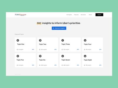 The New Insight Platform at Uber animation ui platform tiles tile search uber design
