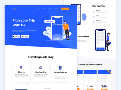Apps Landing page design abstract apps landing page dashboard awesome apps design minimal apps ui ux