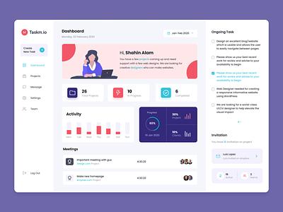 Project Management dashboard apps design web app black design clean minimal dashboard apps ui ux