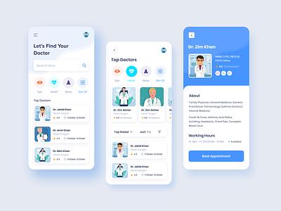 Medical App Design doctor health app healthcare medical app clean apps design minimal dashboard apps ui ux