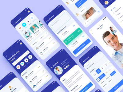 Medical App Design black blue awesome design clean apps design minimal dashboard apps ui ux