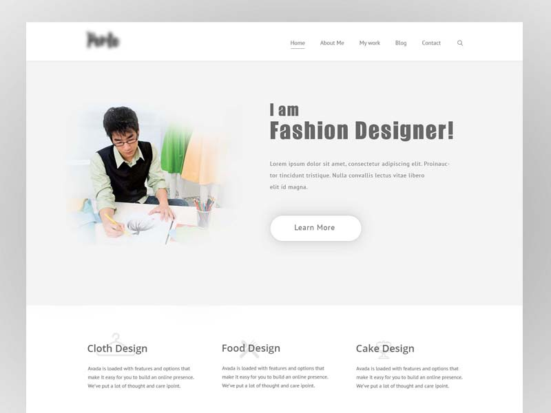 Minimal Website For Fashion Designer By Uxaddict On Dribbble