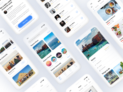Travel app ui
