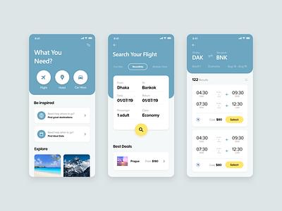 Booking app clean minimal flight app ui app design app ux ui