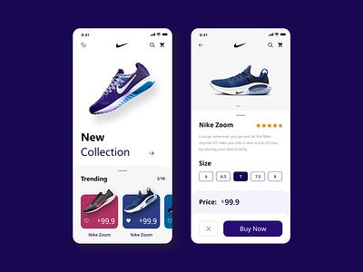 App design concept for Nike appui nike app nike air nike running concept nike ux ui