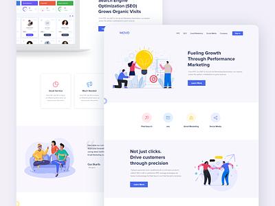 Marketing landing page ui minimal design trend 2019 landing page ui marketing awesome design apps design apps dashboard ui ux