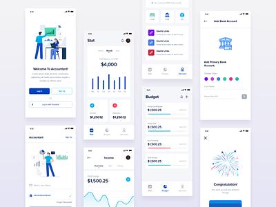 Budget app ui 2019 design trend 2019最新短信群发设备 2019 tr finance app ui budget app ui ui dashboard blue awesome apps design minimal apps ux