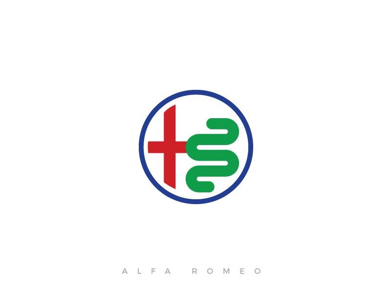 alfa romeo minimal logo by pedro almeida dribbble. Black Bedroom Furniture Sets. Home Design Ideas