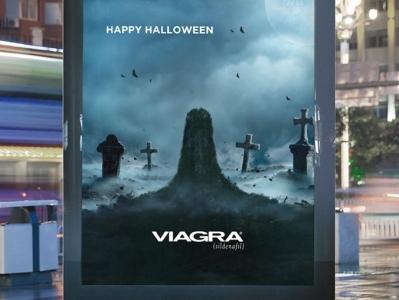 Viagra on Halloween halloween viagra advertising ad
