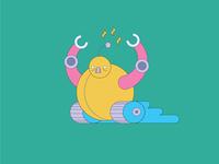 Weekly Warm-Up: Bubot vroom robot character design warmup weekly challenge weekly warm-up design art vector illustration