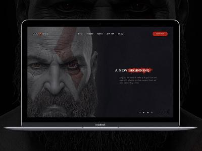 God of War Main Concept black dark design uidesign ux ui website webdesign web