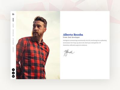 Creative Vcard / Resume & Cv - Recoba Vcard