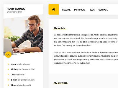 Mat - HTML vCard Template cv vcard portfolio themeforest envato ui web personal material soft clean