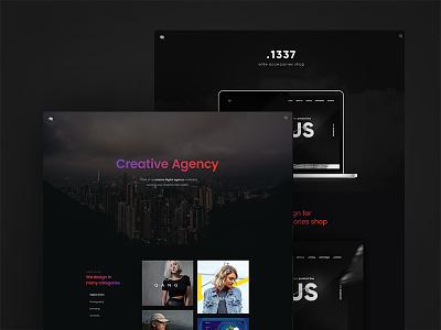 Madrid Portfolio Design dark creative agency web design web ux ui themeforest resume portfolio freelancer