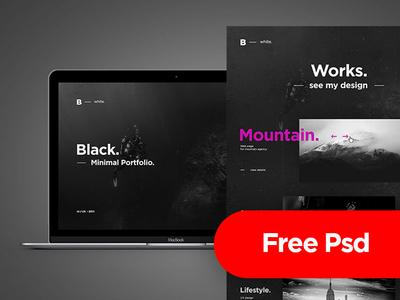 Free Psd - B. White Creative Portfolio (Freebie)