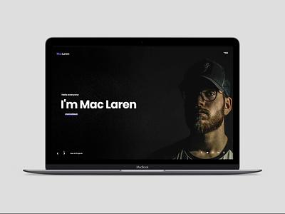 MacLaren - Portfolio Website creative animation slider cv personal vcard ux ui web themeforest portfolio