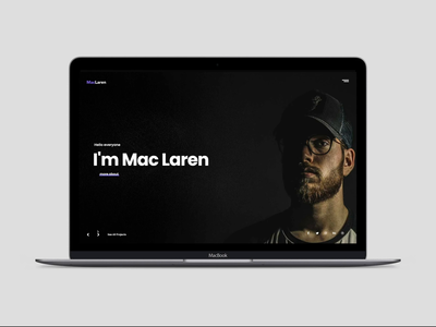 MacLaren - Portfolio Website