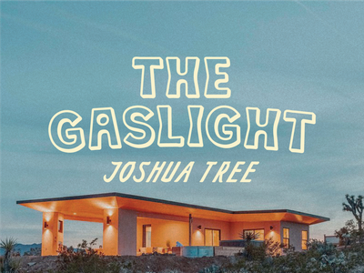 The Gaslight nicola broderick the gaslight joshua tree logo design branding desert california