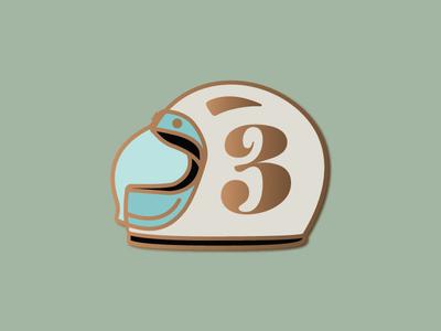 Enamel Pin - Moto Helmet