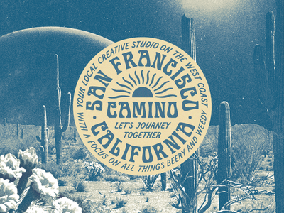 Camino Studio weed cannabis beer vibes type california cactus sun desert badge logo badge oakland bayarea san francisco agency graphic  design studio camino caminostudio camino studio