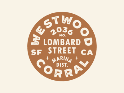Westwood - Brand Identity desert california san francisco bar badge branding westwood
