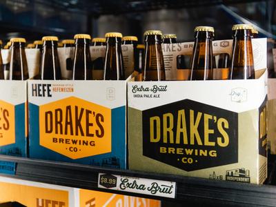 Drake's Brewing - Packaging design san francisco drakes brewery retro california beer